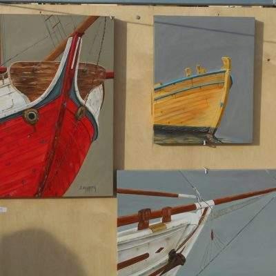 Ξεχωριστή η παρουσία των έργων της καραβογράφου Χρύσας Δελαπόρτα με θέμα ''ταξιδεύοντας στον Πόρο''