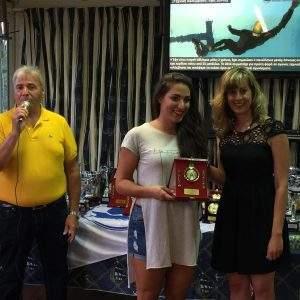Η βράβευση της αθλήτριας μας Ειρήνης Δελληγιάννη από την Κα Γιαννοπούλου